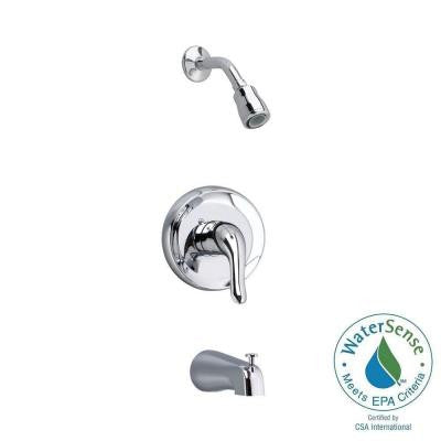 Colony Soft 1-Handle Tub and Shower Faucet Trim Kit in Polished Chrome (Valve Sold Separately)