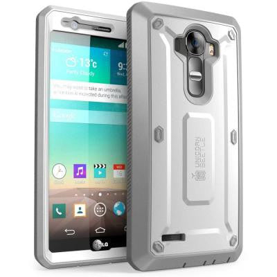 Unicorn Beetle Pro Full Body Case for LG G4 -White/Gray