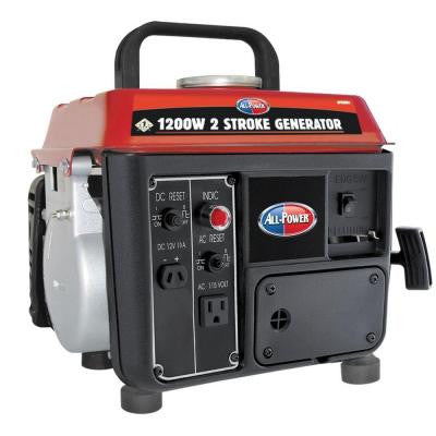 1,200-Watt 2 Stroke Gasoline Powered Portable Generator