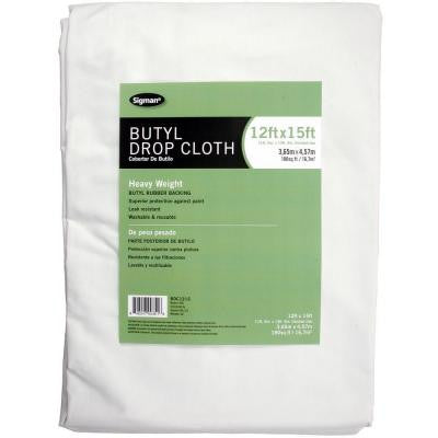 11 ft. 6 in. x 14 ft. 6 in. Butyl Drop Cloth