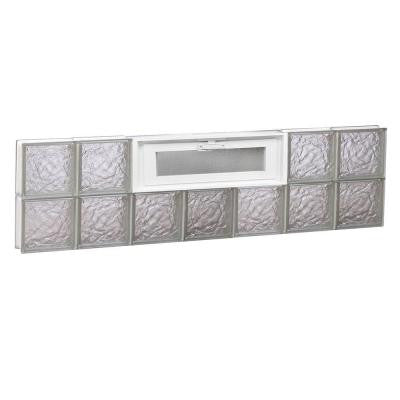 40.125 in. x 11.5 in. x 3.125 in. Ice Pattern Vented Glass Block Window