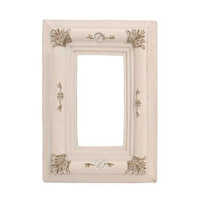 Isabella 1 Decora Wall Plate - Antique White