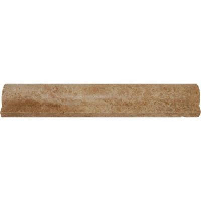 Noche Premium 2 in. x 12 in. Rail Molding Honed Travertine Wall Tile (10 ln. ft. / case)