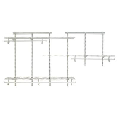 ShelfTrack 5 ft. - 8 ft. White Wire Closet Organizer Kit
