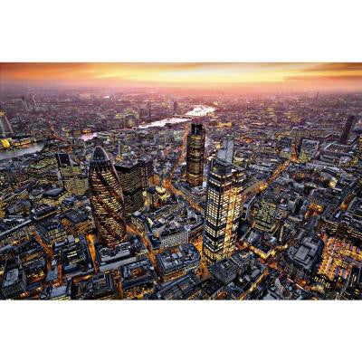 45 in. x 69 in. London Aerial View Wall Mural