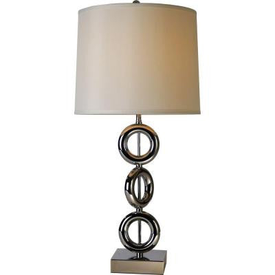 Leora 31 in. Polished Chrome Table Lamp