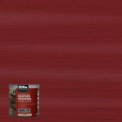 8-oz. #ST112 Barn Red Semi-Transparent Weatherproofing Wood Stain Sample