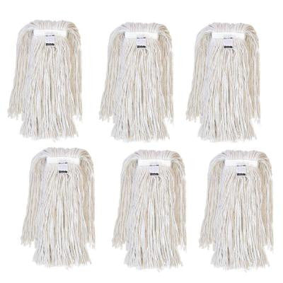 #32, 4-Ply Cotton Mop Head with Cut-Ends (6-Pack)