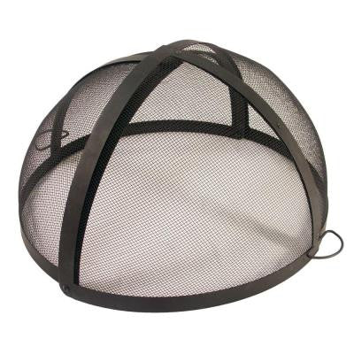 28 in. Fire Pit Folding Spark Screen