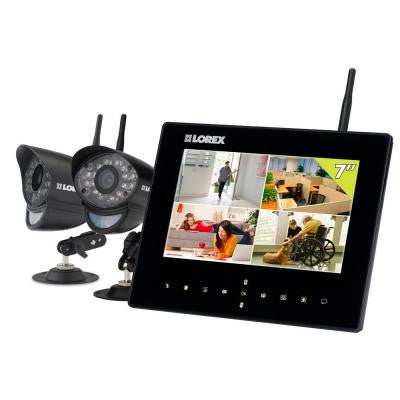 LIVE SD7+ 4 CH Wireless Indoor/Outdoor Video Monitoring System with 7 in. LCD Monitor and (2) 480TVL Wireless Cameras