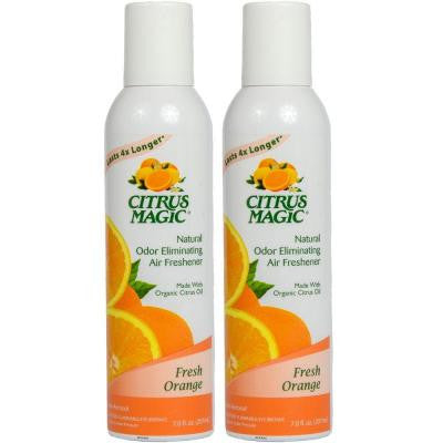 7 oz. Fresh Orange Natural Odor Eliminating Air Freshener Spray (2-Pack)