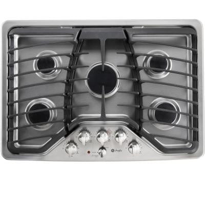 Profile 30 in. Gas Cooktop in Stainless Steel with 5 Burners including Power Boil Burner