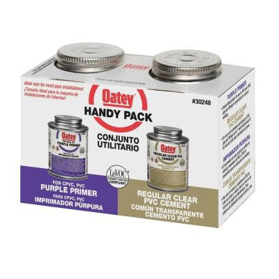 8 oz. PVC Handy Pack Purple Primer and Solvent Cement
