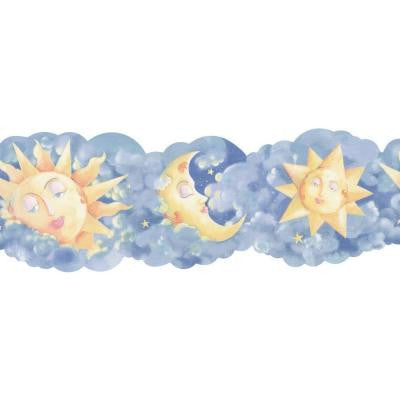 6.75 in. x 15 ft. Blue and Yellow Novelty Celestial Border