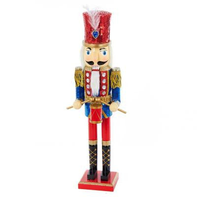 20 in. Wooden Nutcracker Drummer