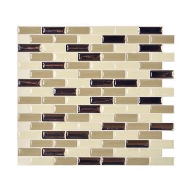 Murano Dune 10.20 in. x 9.10 in. Peel and Stick Decorative Wall Tile Backsplash in Beige (Box of 12 Tiles)