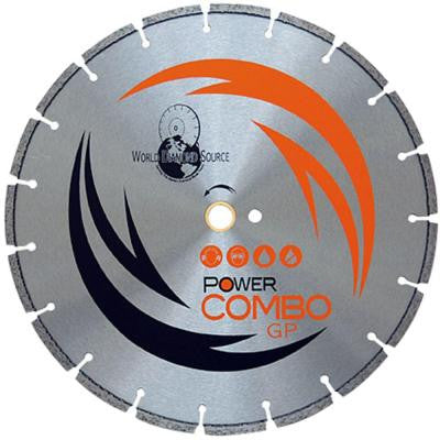 Power Combo 14 in. x .125 in. x 20 mm General Purpose Diamond Blade for Circular Saws