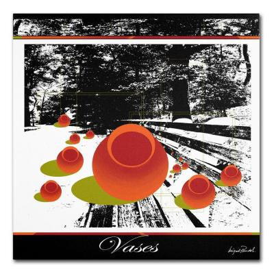 18 in. x 18 in. Clay Vases Canvas Art