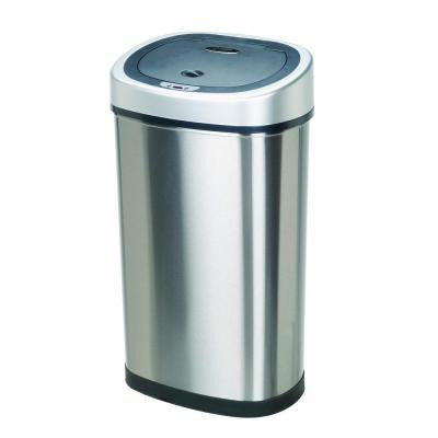 13.2-Gallon Stainless Steel Motion-Sensing Touchless Infrared Trash Can