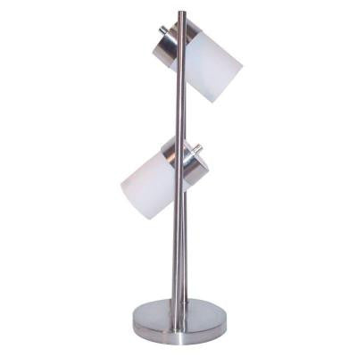 25 in. 2-Light White Adjustable Table Lamp