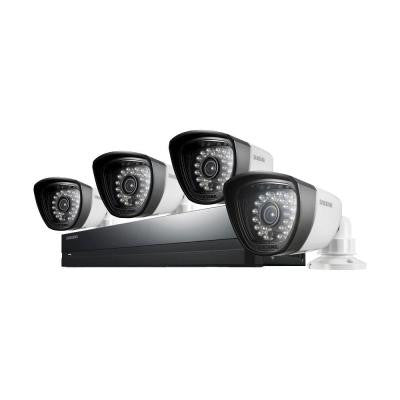 8-Channel 960H Surveillance System with 500GB Hard Drive and (4) 720TVL Cameras