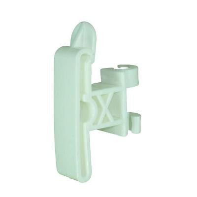 3/8 in. Round Post Clip-On 2 in. Tape Insulator - White