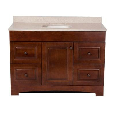 Summit 48 in. Vanity in Auburn with Colorpoint Vanity Top in Maui