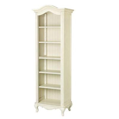 Provence 6-Shelf Single Bookcase in Cream
