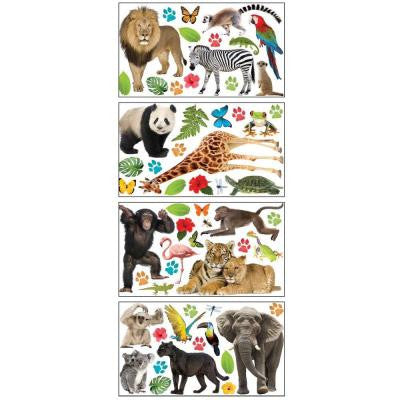 Removable and Repositionable Ultimate Wall Appliques Sticker Zoo