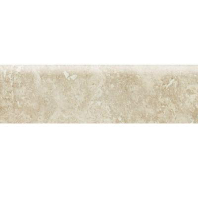 Heathland White Rock 3 in. x 12 in. Glazed Ceramic Floor and Bullnose Wall Tile