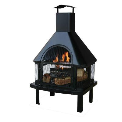 45 in. Outdoor Fireplace with Chimney