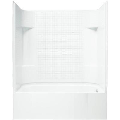 Accord 31-1/4 in. x 60 in. x 73-1/4 in. Standard Fit Shower Kit in White