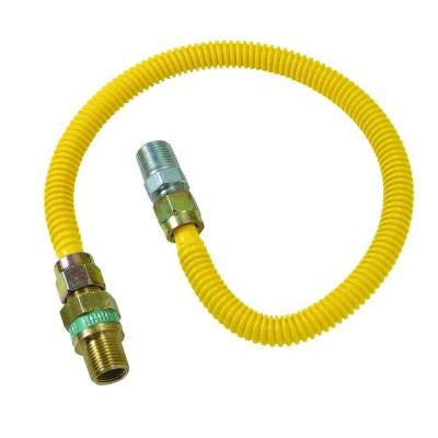 Safety+PLUS 3/8 in. Female Flare Excess Flow Valve x 1/2 in. MIP x 72 in. Gas Connector 1/2 in. O.D. (49,100 BTU)