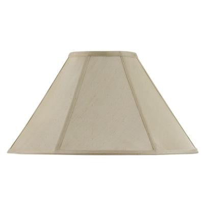 13 in. Cream Fabric Vertical Piped Coolie Shade