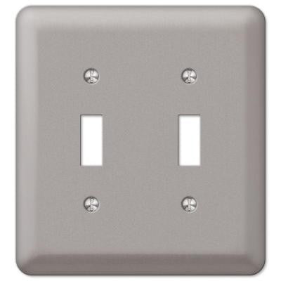 Devon 2 Toggle Wall Plate - Pewter