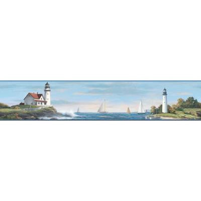 9 in. Nautical Living Sailing Lighthouse Border