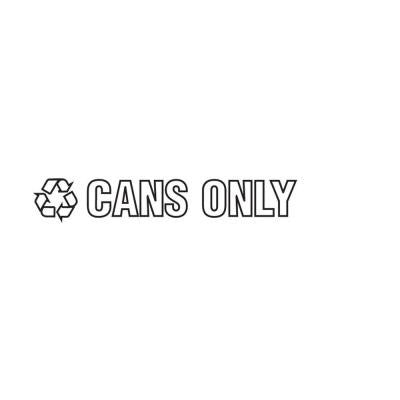 Cans Only Recycle Decal