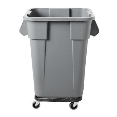 Brute 40 Gal. Gray Square Trash Can
