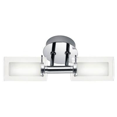 Palermo 2-Light Chrome Wall Lamp