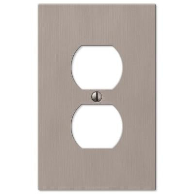 Elan 1 Duplex Outlet Plate - Nickel