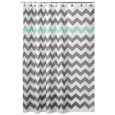 Chevron 72 in. x 72 in. Shower in Gray and Aruba