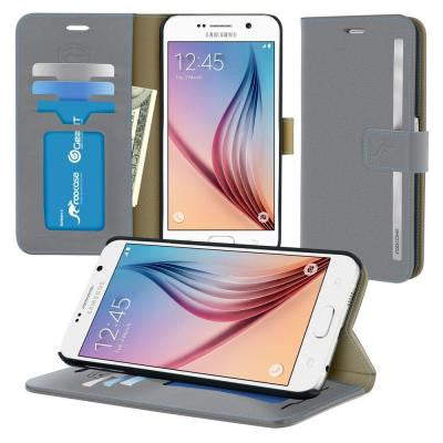 Prestige Wallet Case and Folio Flip Cover with Stand for Galaxy S6 (2015)
