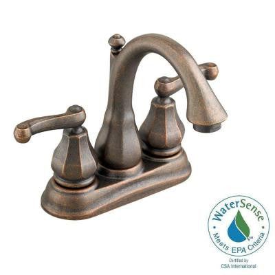 Dazzle 4 in. Centerset 2-Handle Bathroom Faucet in Oil Rubbed Bronze