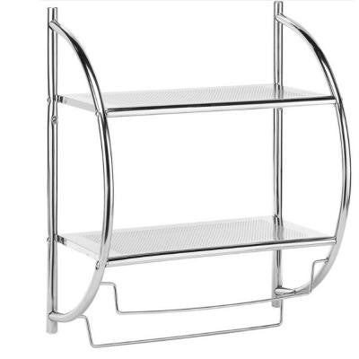 2-Shelves and Towel Rack in Chrome