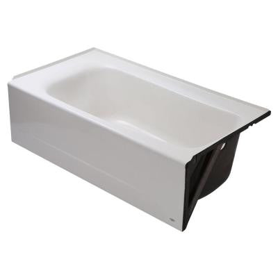 Cambridge 5 ft. X 32 in. Right Drain Americast Soaking Tub in White