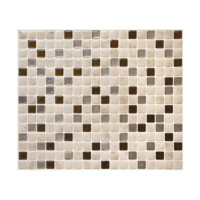 9.64 in. x 11.55 in. Peel and Stick Backsplash Decorative Wall Tile Minimo Cantera in Beige and Bronze (Box of 6 Tiles)