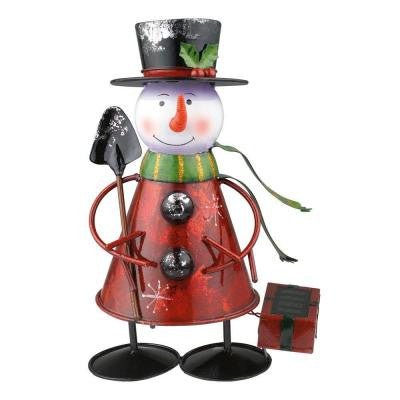 Outdoor Solar Snowman Multi-Color LED Light