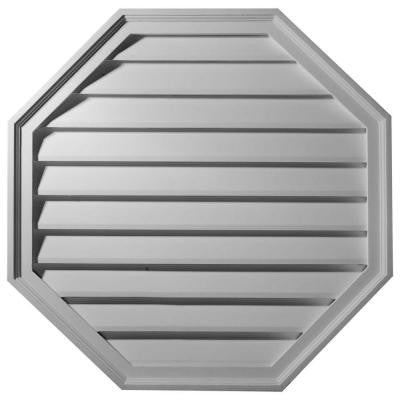 2-1/8 in. x 30 in. x 30 in. Functional Octagon Gable Louver Vent