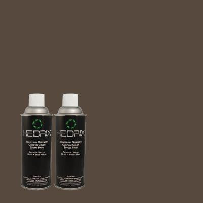 11 oz. Match of 1350 Ultra Pure Black Semi-Gloss Custom Spray Paint (2-Pack)