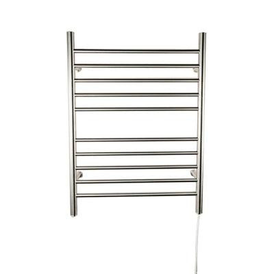 Radiant Straight Plug-In 24 in. W x 32 in. H 10-Bar Electric Towel Warmer in Polished Stainless Steel